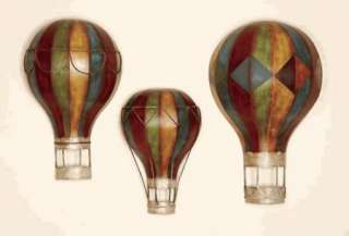 hot air balloon shaped wall art set of 3 decoration