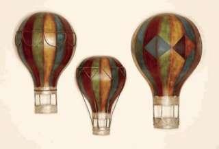 hot air balloon shaped wall art set of 3 decoration