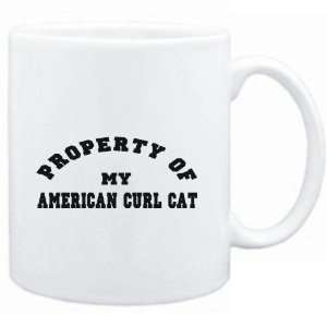 Mug White  PROPERTY OF MY American Curl  Cats