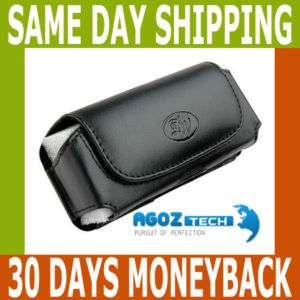 Leather Belt Clip Case Pouch for Telus LG Breeze GW525