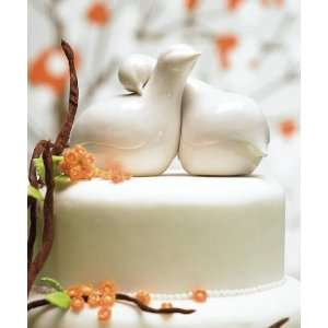 Baby Keepsake: Contemporary Love Birds Cake Topper: Baby