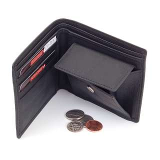 Mens Leather Bifold Wallet Coin Pocket Purse Pouch by Swiss Bags 2