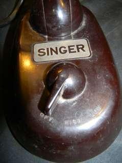 ANTIQUE 30s SINGER RIBBONAIRE BLACK PLASTIC DESK FAN