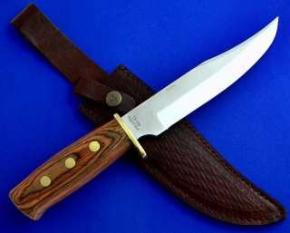 Timber Rattler Wood Handle Bowie Hunting skinning Knife