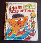 Sesame Street Ernie Follows His Nose Book 1990 Golden Books Boardbook