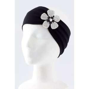 Fashion Hair Accessory ~ White Acrylic Rhinestone Flower