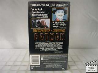 Batman (1989) VHS NEW Jack Nicholson, Michael Keaton 085391200031