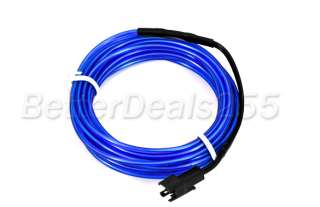 Flexible Neon Light Glow EL Wire Rope Car Party 3M Blue