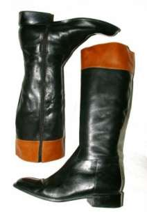 and Brown Leather Knee High Riding Style Boots Womens 10 M