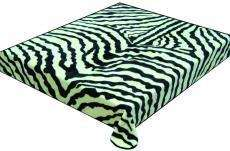Zebra Blanket soft microfiber Plush queen black new