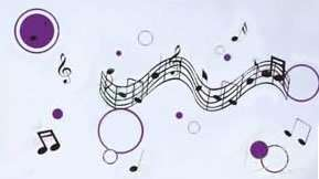Music Notes Polka Dots Circles Vinyl Wall Decal Sticker