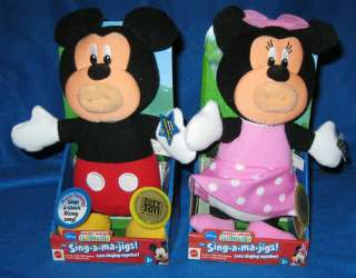 DISNEY MICKEY MOUSE CLUBHOUSE SING A MA JIGS MICKEY & MINNIE NEW