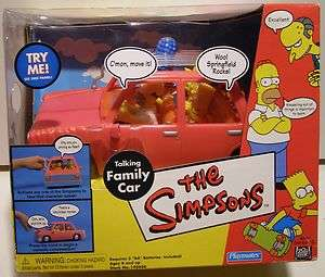 The Simpsons Playset WOS TALKING FAMILY CAR NEW Playmates Toys Fox