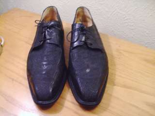 MENS BELVEDERE STUDIO GENUINE STINGRAY & EEL LEATHER HAND MADE SHOES