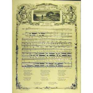 1863 Nadaud Le Pommier Song Music Score French Print: Home & Kitchen