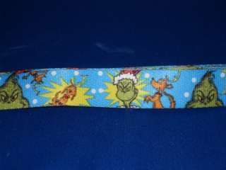 NEW Dr. Seuss Grinch Who Stole Christmas Dog Collar Leash Medium Large