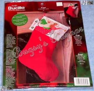 wTrumpet Counted Cross Stitch Cuff Christmas Stocking Kit  Bertone