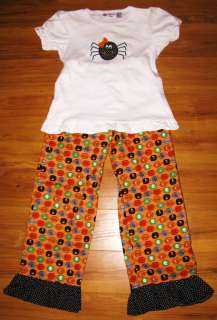 NEW CUSTOM HALLOWEEN SPIDER OUTFIT 7 / 8 smockadot kids boutique shirt