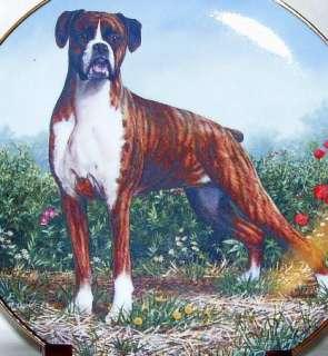 MENDEZ DANBURY MINT STANDING PROUD BOXER DOG PLATE
