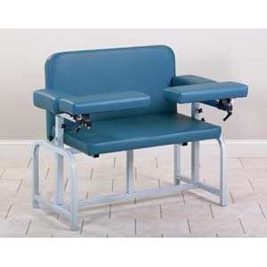 Bariatric blood drawing chair with upholstered seat & flip