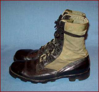 OLD ORIGINAL VTG VIETNAM WAR Ca 1970 SIZE 9.5 COMBAT JUNGLE BOOTS WORK