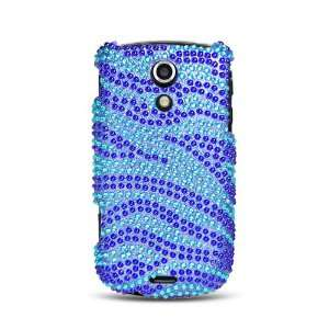 Protector Case, Blue and Light Blue Zebra Cell Phones & Accessories