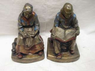 DARBY & JOAN ARMOR BRONZE CLAD BOOKENDS BOOK ENDS YUSC