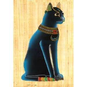 Egyptian Bastet Cat Papyrus Home & Kitchen