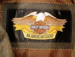 HARLEY DAVIDSON Billings Distressed Leather Riding Jacket (Mens