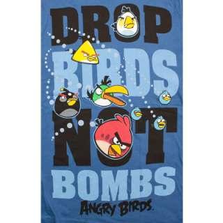 Drop Birds Not Bombs Angry Birds Womens T Shirt