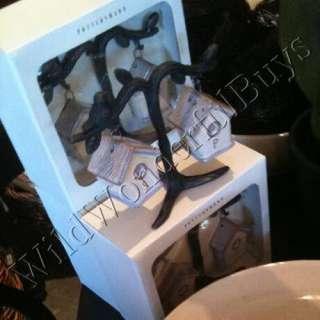 POTTERY BARN Bird House Ceramic SALT PEPPER SET Shakers NIB
