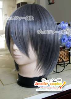 Black Butler Ciel Cosplay Wig Costume Dark Gray