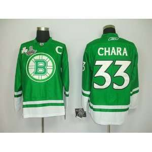 Zdeno Chara #33 NHL Boston Bruins Green Hockey Jersey Sz54
