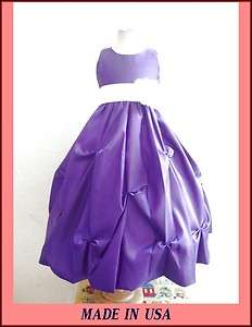 NEW PURPLE WHITE WEDDING BRIDESMAID PAGEANT PARTY RECITAL PROM FLOWER