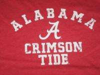 Large Red Alabama A Crimson Tide Cotton Tshirt NEW