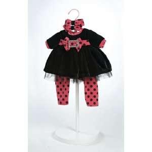 Black Velvet Outfit for 20 Adora Dolls: Toys & Games