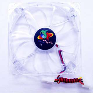 Logisys CF120RD Red LED 120mm Bearing Case Fan with 4 Pin Connector