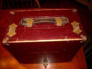 Vintage Pistol Target Shooting Range Box Case Brass Hardware