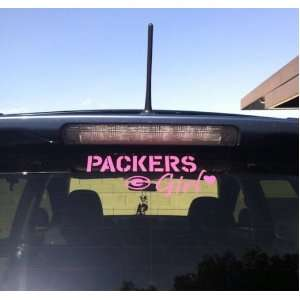 Green Bay Packers Girl Car Window Decal Sticker Pink