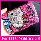 Hello Kitty Bling Crystal Case Cover HTC Wildfire G8 DK