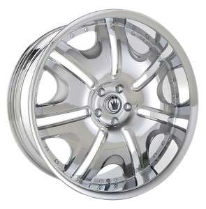22x10 Konig Blix 1 Chrome Wheel/Rim(s) 5x120 5 120 22 10