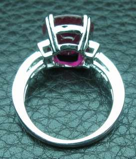 37CT SOLID 14K WHITE GOLD NATURAL SPARKLY RUBY DIAMOND RING
