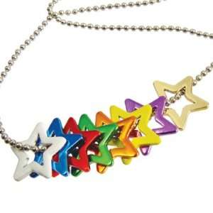 Young Women Values Star Charms Necklace/Mixed Metal Jewelry