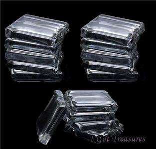 20 Glass Tiles Clear 1 Inch (25.4mm) Pendants, earrings, crafts & more