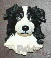 BORDER COLLIE   Soft Sculpture Dog Head Fridge Magnet