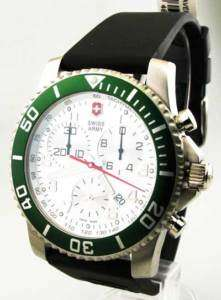 Swiss Army 241085 Mens Rubber Chrono Date Watch New