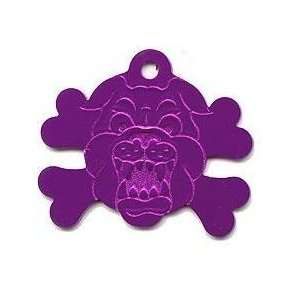 Jumbo Cross Bones Bull Dog Pet ID Tag 8 Colors