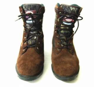 BRAHMA Thinsulate Mens Brown Suede Camo Boot 10