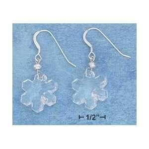 Sterling Silver 17mm Swarovski Crystal Snowflake Earrings