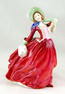 Royal Doulton AUTUMN BREEZES   RED Figurine FEATURES Woman Lady Red